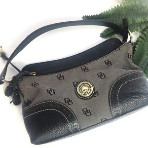 Dooney & Bourke Black & Gray Monogram Leather Bag